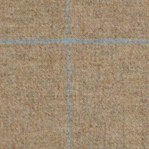 19018 – Light Brown with blue and aqua check