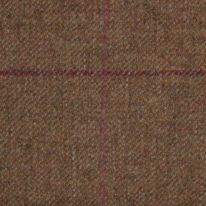 19020 – medium brown with Maroon and Pink Check