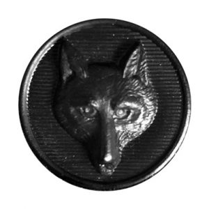 Black Foxhead Buttons