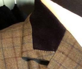 3/4 Collar Black Velvet