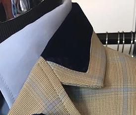 3/4 Collar Navy Velvet