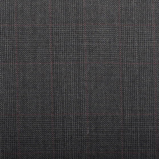 Q15073 – Medium Grey Prince Of Wales With Red Overcheck