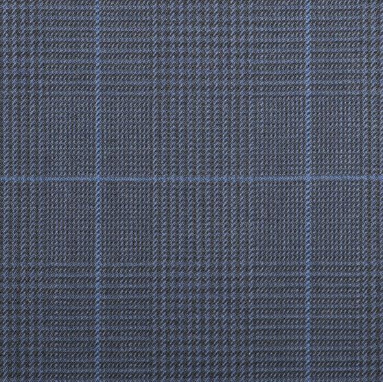 Q15000 – Navy Blue Plaid with Royal Blue Check
