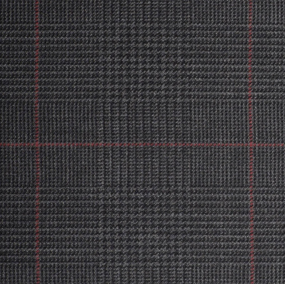 Q15001 – Dark Grey Plaid with Red Check